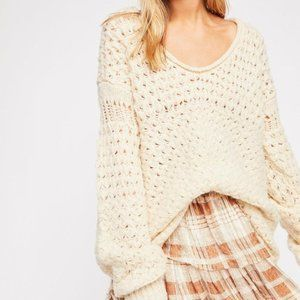 NEW Free People M Crashing Waves Pullover Sweater